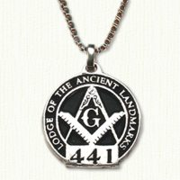 Antiqued Sterling Masonic Pendant