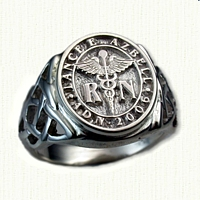 Sterling Silver Custom Celtic Signet Ring