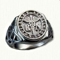 Sterling Silver Custom Celtic Signet Ring