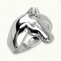 Sterling Silver Custom Horse Ring