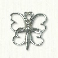 Butterfly Pin with Hearts
