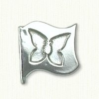 Butterfly Flag Lapel Pin