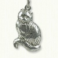 Persian Cat Charm