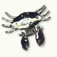 Crab Pin with moveable claws