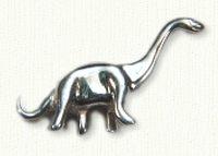 Sterling silver brontosaurus tack pin