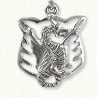 Pierced Dragon Pendant