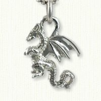3-D Sitting Dragon Charm