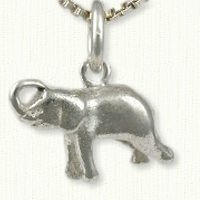 Small elephant charm