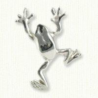 Climbing Frog Charm/pin