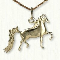 14KY Running Horse Charm