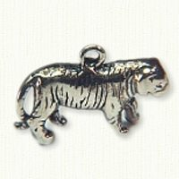 14kt yellow gold panther charm