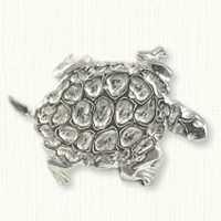 Carved Turtle Tack Pin