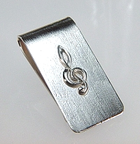 G Clef Money Clip in sterling silver