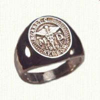 14KY custom medical signet ring