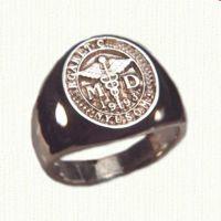 14KY custom medical signet ring