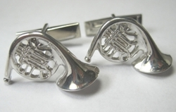 French Horn Cuff Links