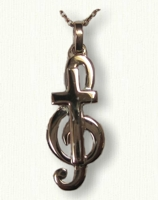 Custom Monogram E Pendant with G Clef