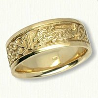 14kt yellow Celtic Wolf & Desboro knot band
